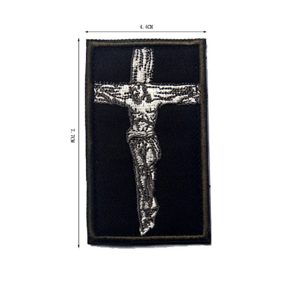 3d Embroidery Patches Jesus Christian Patch The Catholic Cross