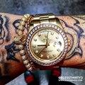 Pulseiras homens jóias cubic zircon micro pave cz crown charm & 4mm rodada beads trançado pulseira macrame pulseira feminina
