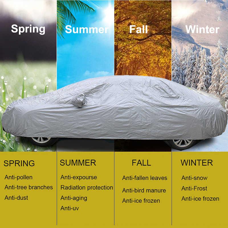 Kayme completa tampas do carro à prova de poeira ao ar livre indoor uv neve resistente proteção solar poliéster capa universal para suv toyota bmw vw