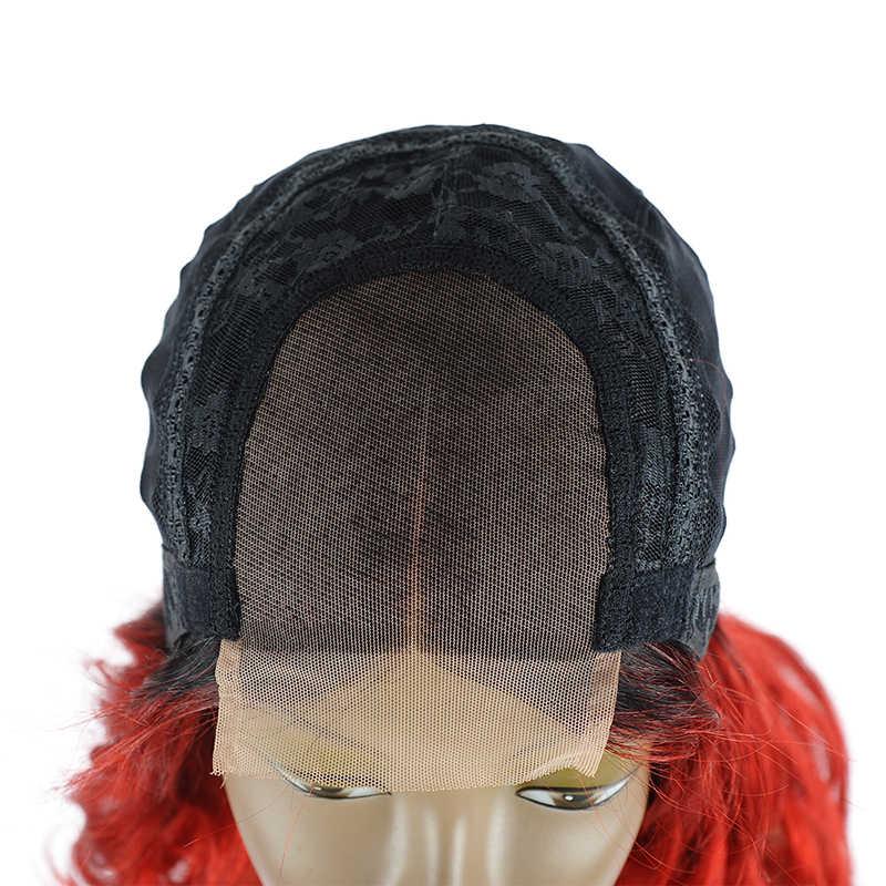 Стиль Me короткие синтетические волосы на кружеве человеческие Искусственные парики свободные синтетические волосы волнистые парик бразильский ombre BOB