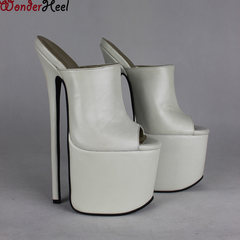 15 cm high heeled mules - 1 9