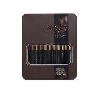 12 pinceaux de peinture en nylon brosse boîte de fer artiste pinceaux ensemble pour aquarelle huile acrylique peinture à la gouache 10