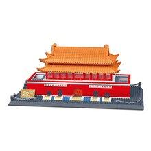 Wange Great architectures 11 models Tiananmen Building Block Sets Educational DIY Bricks Toys