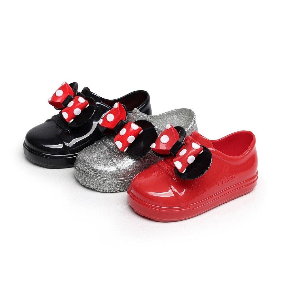 Toddler Shoes Baby Moccasins Bebek-Ayakkabi Bowknot Infant Kids Dot Rubber Waterproof