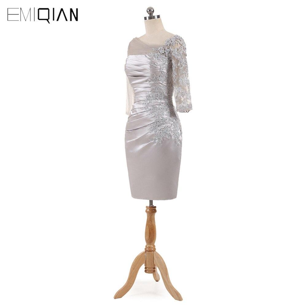 Mutter Silber Spitze Kleider Distinctive 3 Mantel 2017 Der 4 As Same Sleeves Pic Knielangen Braut Schulter I105q0Swz