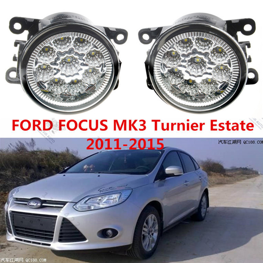 For FORD FOCUS MK3 2011-2015 Car styling front bumper LED fog Lights high brightness fog lamps 1set for lexus rx gyl1 ggl15 agl10 450h awd 350 awd 2008 2013 car styling led fog lights high brightness fog lamps 1set