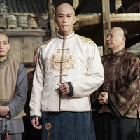 Wu Pin 3 designs Republican Period Rich Men Costume Long Gown Drama Costume for TV Play Nothing Gold Can Stay He Rundong