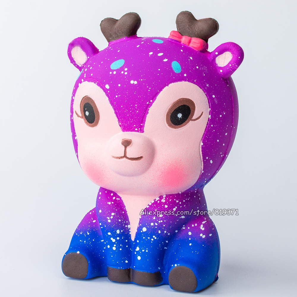 New 2018Colorful Jumbo <font><b>Big</b></font> Galaxy Deer Cake Poezen Squeez <font><b>Squishy</b></font> <font><b>Toys</b></font> Slow Rising Phone Gadgets <font><b>Toy</b></font> Gift For Children Kids image
