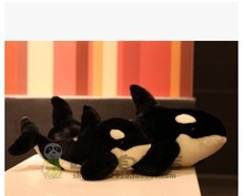 Free shipping simulation animal 35 cm black killer whale plush toy doll gift .GOOD QUALITY