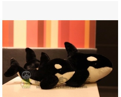 Free shipping simulation animal 35cm ,55CM black <font><b>killer</b></font> <font><b>whale</b></font> <font><b>plush</b></font> toy doll gift .GOOD QUALITY image