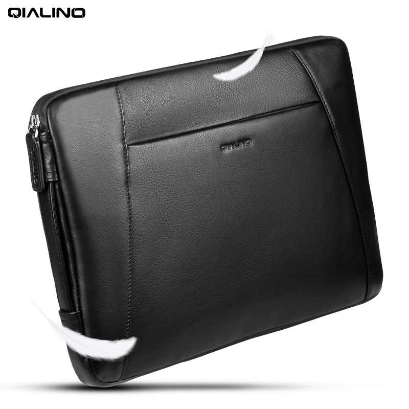 92e87ca80 ... QIALINO Business Style Genuine Leather Briefcase Sleeve Case Laptop Bag  for MacBook Pro 15/13 ...