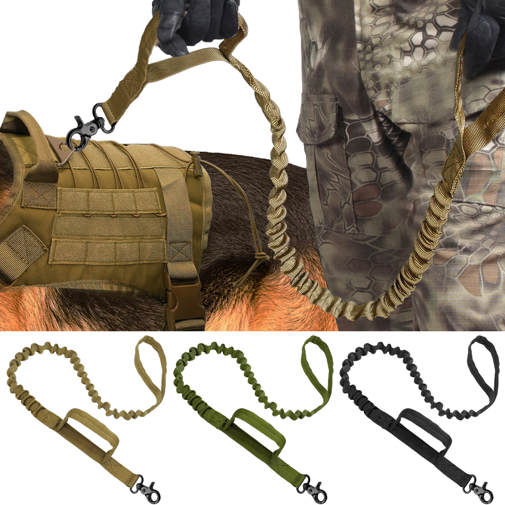 Armee Taktische Hund Leine Nylon Bungee Leinen Pet Military Blei Gürtel Training Laufen Leine Für Medium Large Hunde Deutsch Shepherd