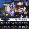 16 Patterns LED Laser Projector Light Xmas Landscape Projector Lamp Christmas Halloween Party Decoration Outdoor Waterproof