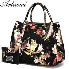 5dc888c7badd Arliwwi Brand High Quality Faux Leather Ladies Floral Handbags New Lily  Blossom Shiny Women Elegant Tote