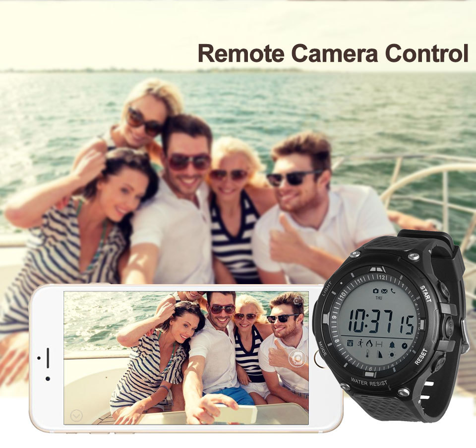 Ip68 Waterproof Wristwatch 01D Smart Watch Pedometer Distance Meter Fitness Tracker Message Reminder Camera Controller Wristband in Smart Watches from Consumer Electronics