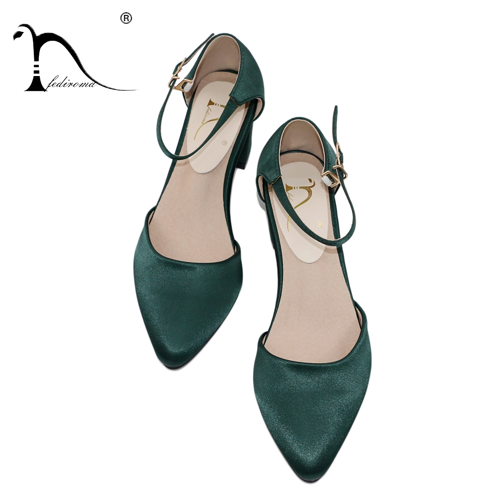 FEDIROMA Mary Janes Shoes Woman Silk Pointed Toe Elegant High Heel Shoes Pumps Women New Arrive 5.5CM High Heels