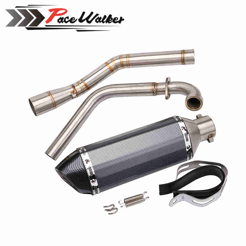 Exhaust Pipe Link Muffler Motorcycle Motorbike Mid Down for Yamaha R15+51mm exhaust Modified Scooter Exhaust Muffle GY6 bjmoto universal motorcycle exhaust modified scooter akrapovic exhaust muffle fit for most motorcycle
