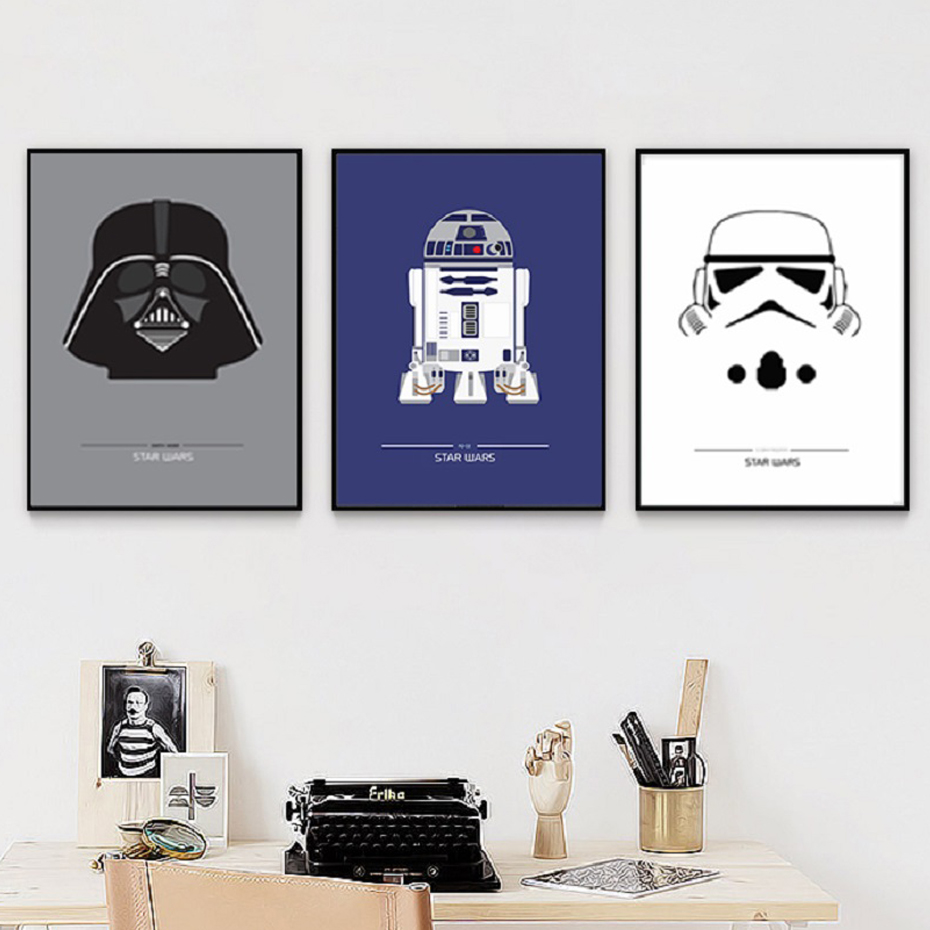 Modern Star Wars Poster Wall Art Canvas Paintings Movie Characters Pictures Prints Kids Great Gifts Living Room Home Decor image