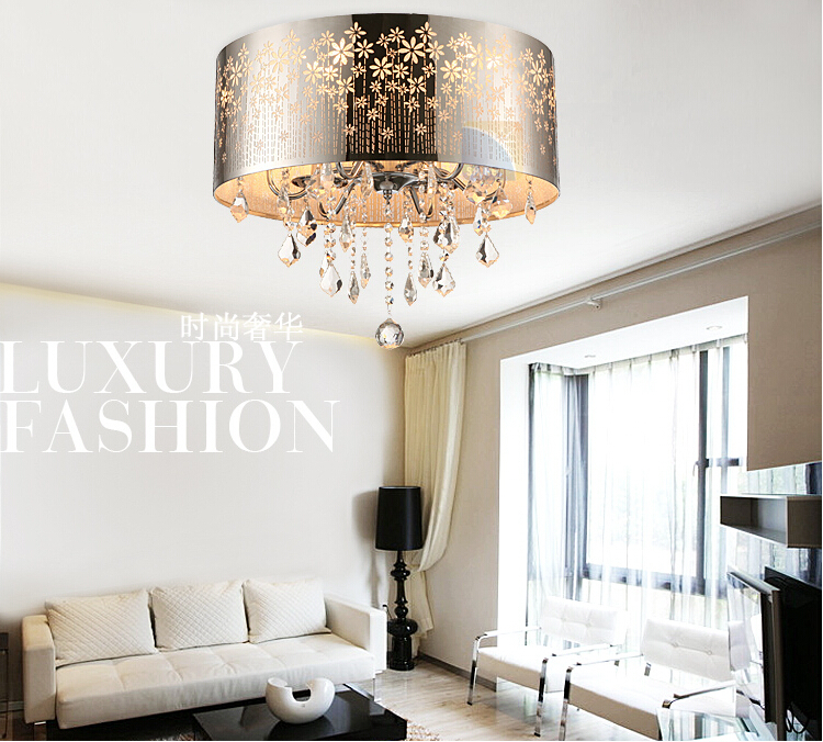 Aliexpress.com : Buy Modern LED K9 Lustre Crystal Chandelier Drum Crystal  Ceiling Lamp Fixture Lighting Dining Room Luminre E14 Lamps And Chandeliers  From ...