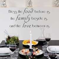Prayer Wall Decal Bless The Food Before Us,The Family Beside Us,And Love Between Us Kitchen Vinyl Lettering 55.9cm x 114.3cm