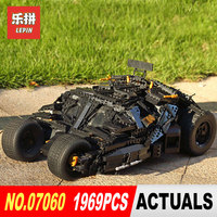 LEPIN 07060 Super Hero Movie Series The Tumbler Armored Chariot Set 76023 Building Block Bricks Toys DIY Birthday Gifts