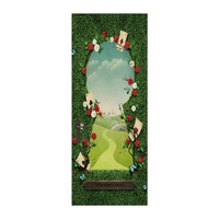 Wonderland Entrance Door Wall Decoration Self Adhesive Stickers 3D Accessories Home