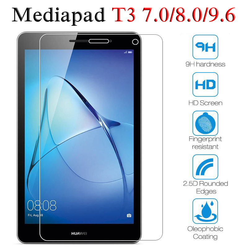 Protective Glass For Huawei Mediapad T3 8.0 Inch For Huawei Mediapad T3 7.0 9.6 Glass Tempered Tablet Screen Protector Film Glas
