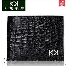 KADILER 2017 hot new free shipping real crocodile men purse ccross  men wallet card money