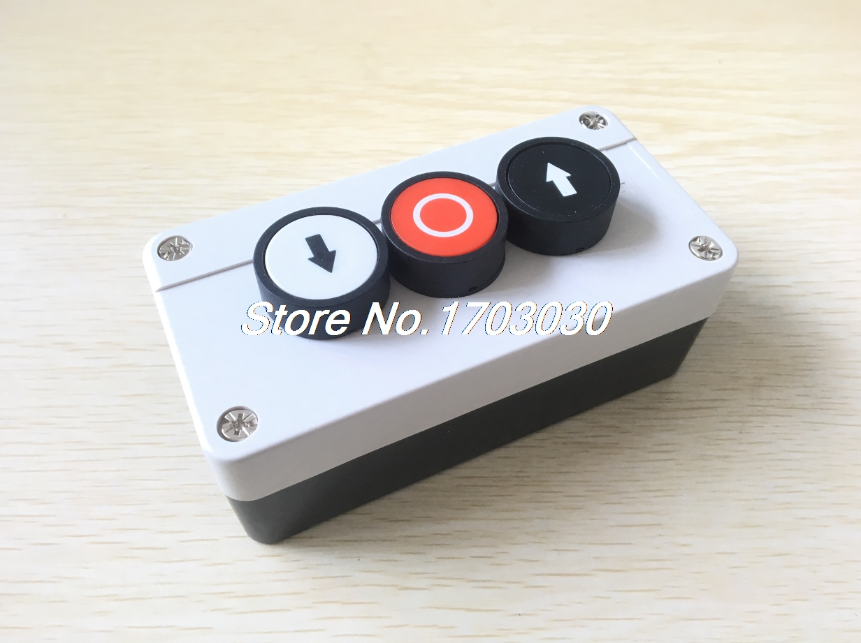 Momentary N/C Red NO Black White Sign Push Button Switch Station 600V 10A