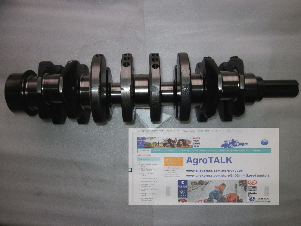 The crankshaft with set of main bearing, rod bearing and thrust ring for Yangdong YND485Q YND485T, part number: yituo x1004 tractor parts the set of main bearing connecting rod bearing and thrust bearings for one engine
