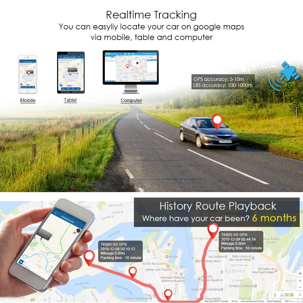 3G GPS Per Auto Tracker TKSTAR TK915 3G 80 giorni In Standby Magnete Impermeabile In Tempo Reale di GPS Per Auto Tracker Allarme di Scossa TRASPORTO APP PK TK905 TK915 - 3
