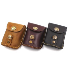 Slingshot Accessories Genuine Leather Bags for Hunting Sling Shot Stainless Steel Balls Case Pouch Holster