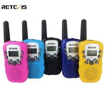 Пара Мини Walkie Talkie дети радио Retevis RT-388 RT388 0.5 Вт UHF 446 мГц ЕС частота портативный двухстороннее радио подарок A7027B