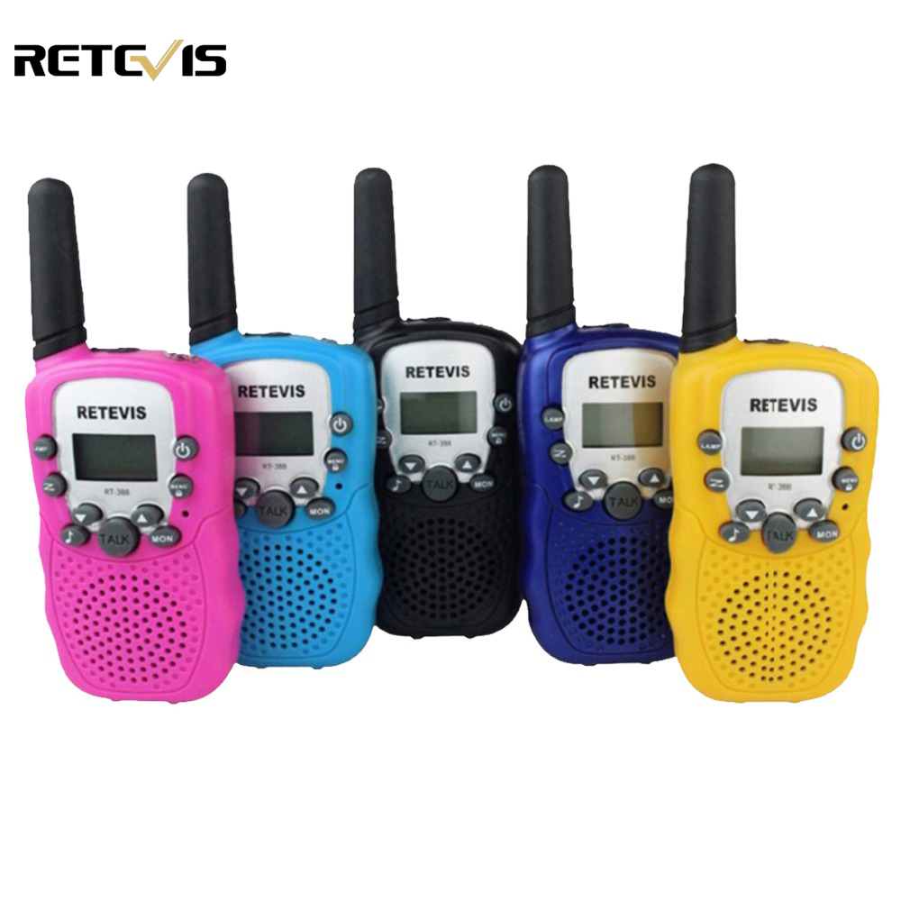 imágenes para Un par Mini Walkie Talkie Para Niños Radio Retevis RT-388 RT388 0.5 W UHF 446 MHz de Frecuencia de Radio de Dos Vías Portable de LA UE Regalo A7027B
