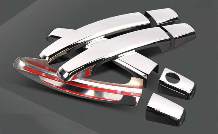 Cubierta cromada de manija de puerta set de molduras para Peugeot 3008 mk1 2008 ~ 2016 pegatinas 2009, 2010, 2011, 2012, 2013, 2014, 2015, 2016
