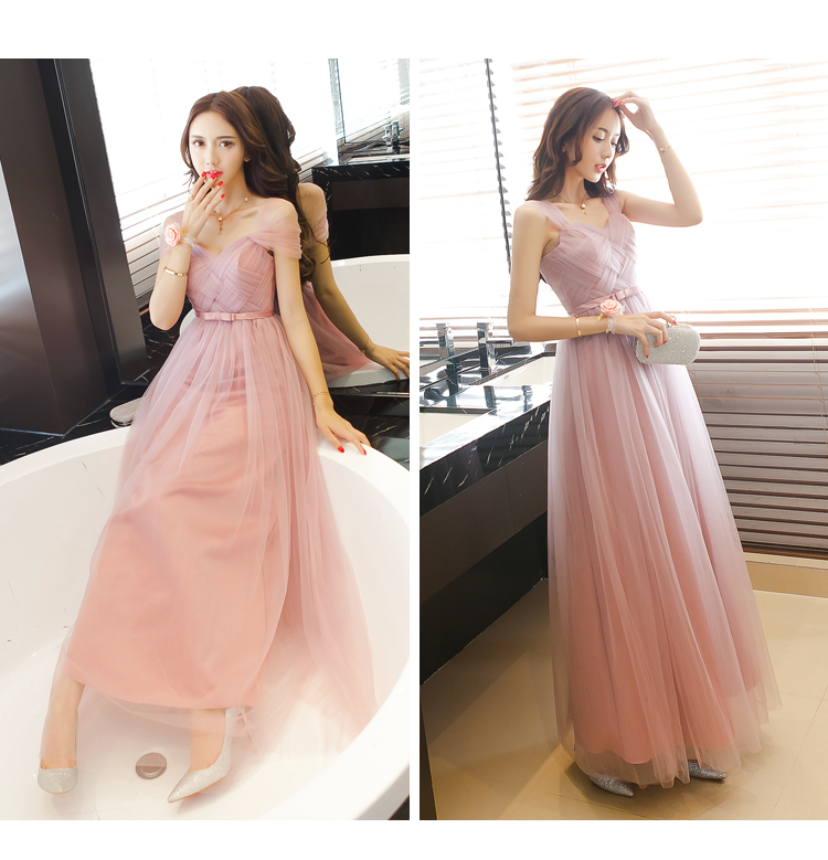Dusty Pink Long Bridesmaid Dresses 2019 Sweetheart Tulle Cheap Pleated Prom  Party Gowns Maid Honor Dresses Dama Dresses Vestiods-in Bridesmaid Dresses  from ... 3f78a7f032e3