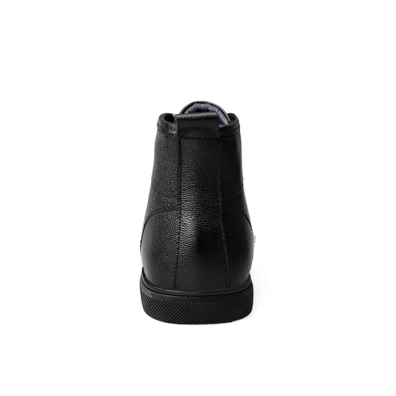 Chaussures No Cuir With En Nouveaux D'hiver Hiver Fur Cheville Automne Hommes Black Bottes Véritable Mode Fur Chaud black Martin qwRS6BPRxH