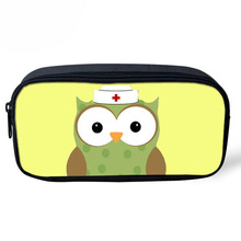 hot deal buy cute nurse printed women cosmetic cases makeup bag mini pencil case bags for kids girls school supplies stationery