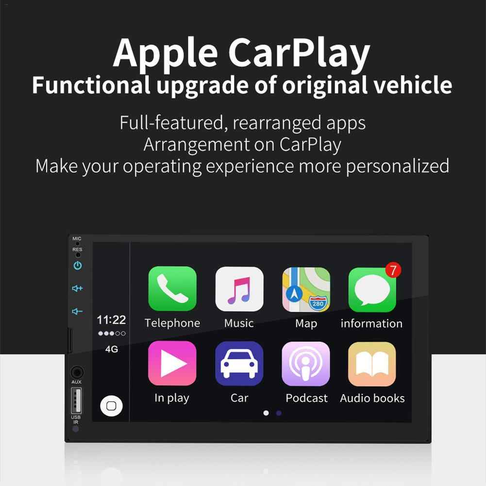 7 Inch Apple Carplay Auto Bluetooth MP5 Speler Touch Screen Auto Fm Radio Stereo Aux Rca Audio Fit Android/ ios Afbeelding Verbinding