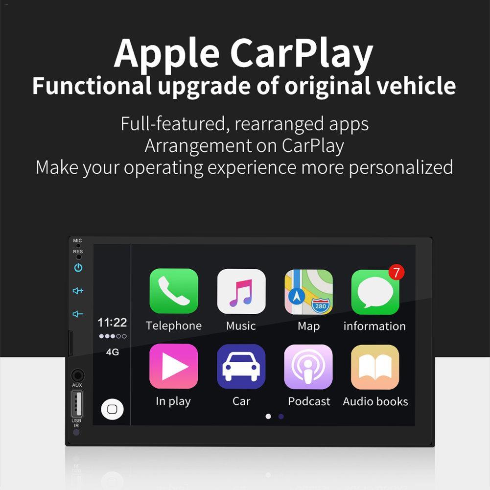 7 дюймов для Apple Ipad Mini Carplay автомобильный Bluetooth MP5 плеер сенсорный Экран автомобильный FM Радио стерео AUX RCA аудио подходят для Android / IOS изображен...
