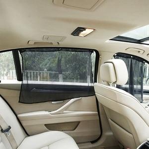 Image 3 - Hot New 2 Pcs Auto Car Foldable Curtain Side Window Car Sun Shade Curtain Windshield Mesh Curtain Blind High Quality qiang