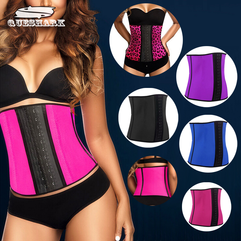 Hot Body Shaper Underbust Rubber Waist Training Corset Waist Trainer Latex Steel Bone Slim Belt Women Waist Cincher Shapewear ...