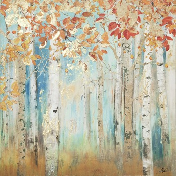beautiful birch painting for wall modern art canvas autumn-Beauties Bedroom living room Handmade decoration High quality