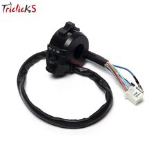 Triclicks Universal 7/8 Handlebar Control Switch Motorcycle Controller Switches Turn Signal Indicator Headlight Horn New