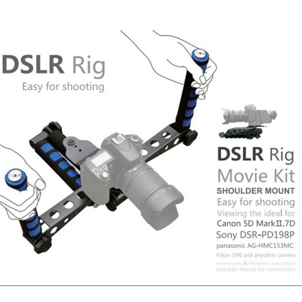 Premium DSLR Rig Movie Kit Schouder Mount Holder Photo Studio Accessoires voor Canon Nikon DSLR Camera Video Camcorder Camera DV-in Accessoires voor fotostudio's van Consumentenelektronica op  Groep 1