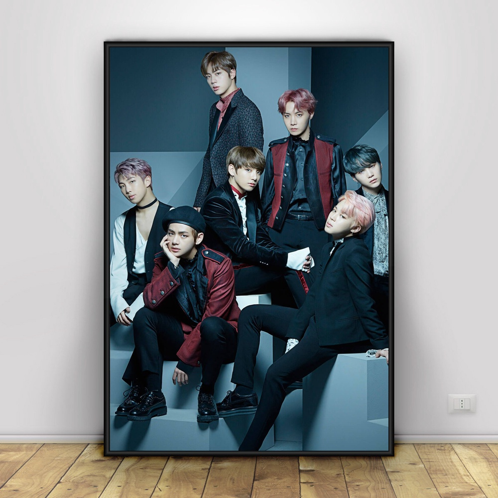 BTS Art Silk Poster Home Decor 12x18 24x36inch-in Painting