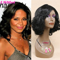 new arrival synthetic wigs for black women natural looking medium wavy black wigs cheap wigs pelucas cosplay pruiken lang haar