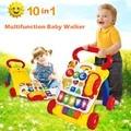 10 en 1 Multifunción de Descubrimiento de Música Andador Y Sentado a de Pie Bebé Pasos de Aprendizaje Walker Walker y Caminar Detrás de