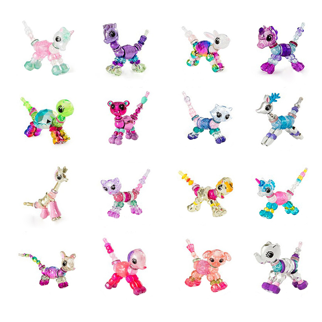 2018 New Design Diy Animal Magic Creative Elasticity Bracelet Twisty Pets Sching Magical Pet Bracelets