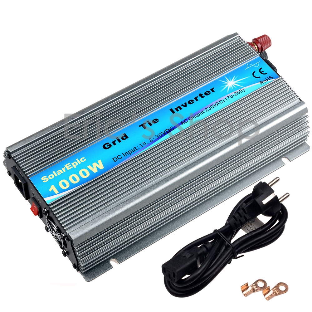 1000W Solar Inverter 18V Panel 36cells Grid Tie Inverter DC18V to AC220V Pure Sine Wave Power Inverter With MPPT Function 1500w grid tie power inverter 110v pure sine wave dc to ac solar power inverter mppt function 45v to 90v input high quality